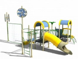 Metal outdoor playset 3d preview