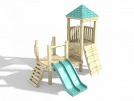 Wooden playhouse 3d model preview