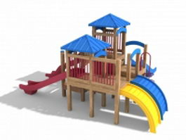 Outdoor playset slides 3d model preview