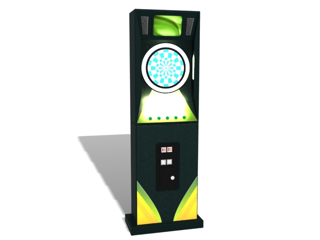 Electronic dart machine 3d rendering