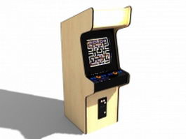 Vintage arcade machine 3d preview