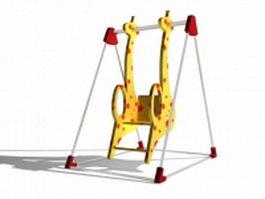 Giraffe swing 3d model preview