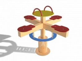 Playground merry go round 3d model preview
