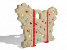 Kids climbing wall 3d preview