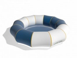 Inflatable pool float 3d preview