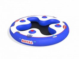 Inflatable round raft 3d model preview