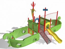 Pirate ship slide 3d preview