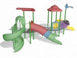 Slide playset 3d model preview
