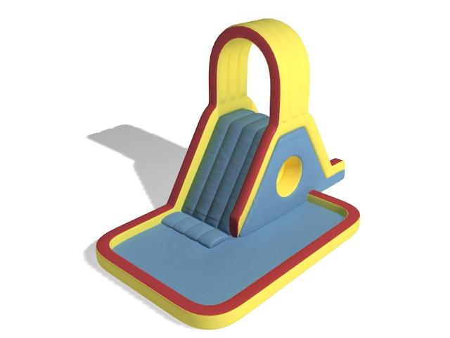 Inflatable slide 3d rendering