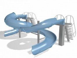 Large spiral slides 3d model preview