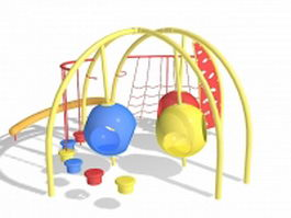 Swing playset 3d model preview
