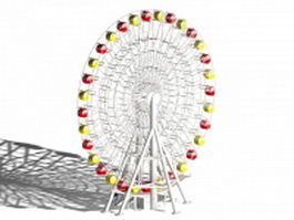 Classic ferris wheel 3d preview