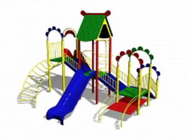 Outdoor playset slide 3d preview