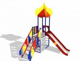 Kids slide playset 3d model preview
