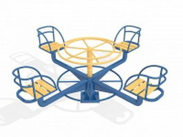 Residential merry go round 3d model preview
