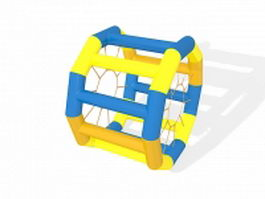 Inflatable water wheel 3d preview