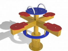 Roundabout playground equipment 3d preview
