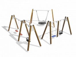 Playground swing sets 3d model preview