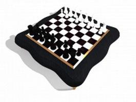 Vintage chess set 3d model preview