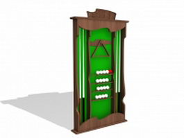 Pool cue wall rack 3d preview
