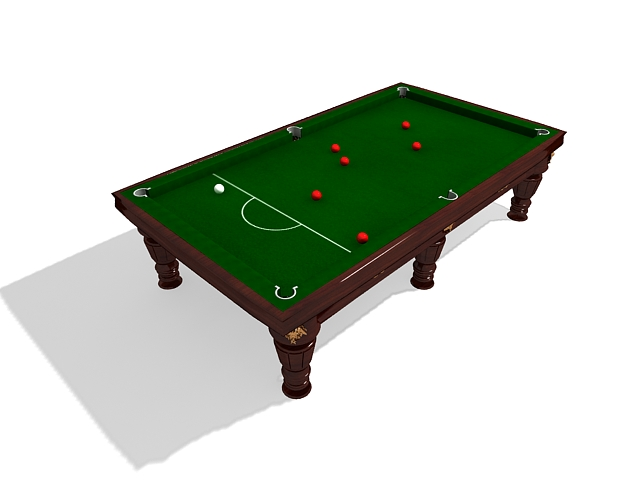 English snooker table 3d rendering