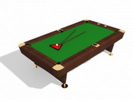 English billiards table 3d preview
