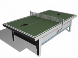 Table tennis table 3d preview