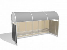 Bus stop shelters 3d preview