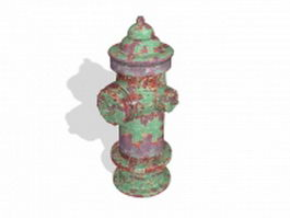 Vintage fire hydrant 3d preview