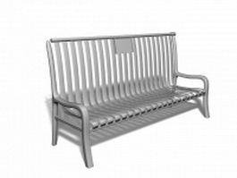 Outdoor metal bench 3d preview