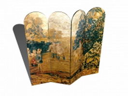 Hand painted room dividers 3d preview