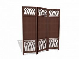 Wood folding screens 3d preview