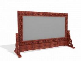 Vintage decorative room divider 3d model preview
