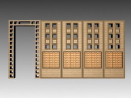 Trellis room divider 3d preview
