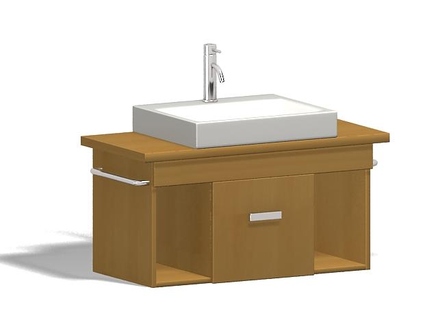 Bathroom vanity sink 3d rendering
