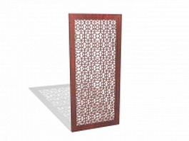 Indoor decorative lattice panel 3d preview