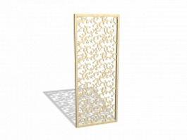 Decorative wood panel design 3d preview