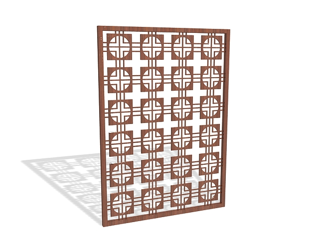 Decorative screening panel 3d rendering