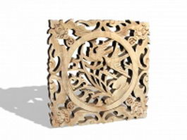 Carved Chinese window insert 3d preview