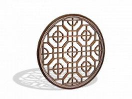 Round lattice window 3d preview
