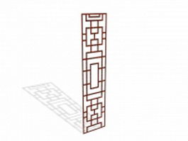 Geometric room divider panel 3d preview