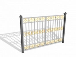 Ornate metal gate 3d preview