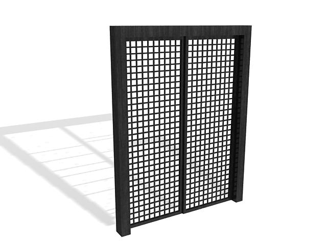 Black door 3d rendering