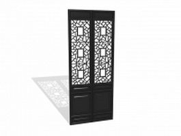 Antique Chinese door panel 3d preview
