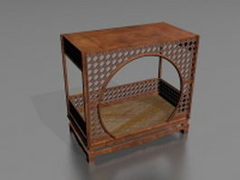 Traditional Chinese Bed 3d preview
