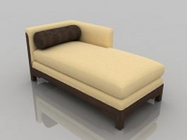 Modern chaise lounge 3d preview
