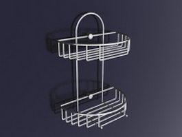 Bathroom wall storage shelf 3d preview