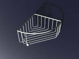 Stainless steel corner wall shelf 3d preview