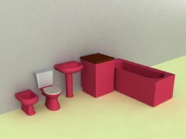 Bathroom facilities 3d preview