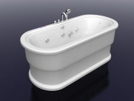 Massage tub with faucet 3d preview